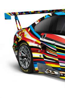 Detail of the BMW M3 GT2 Art Car Jeff Koons