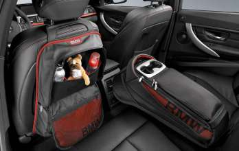 BMW 3 Series Sedan, backrest and storage bag, rear passenger compartment, Sport Line (11/2011)