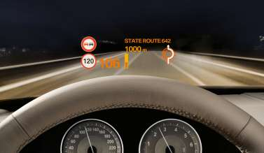 BMW ConnectedDrive, Head-Up Display (02/2011)