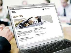 BMW Group Website auf Notebook. (02/2012)