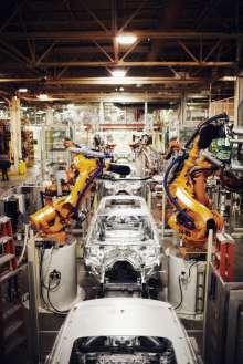 Karroseriewerkstatt im BMW Werk Spartanburg. (02/2012)