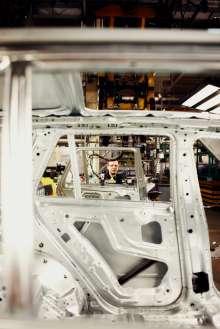 Karosseriewerkstatt im BMW Werk Spartanburg. (02/2012)