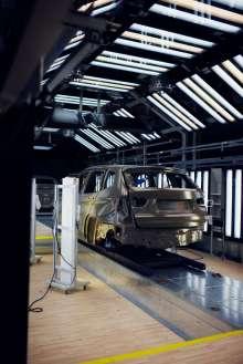 Lackierwerkstatt im BMW Werk Spartanburg. (02/2012)