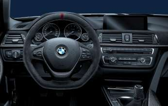 3 Series with BMW M Performance Parts steering wheel and Carbon Fiber Trim. (02/2012)