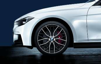 3 Series with BMW M Performance Parts Wheel and brakes. (02/2012)