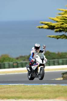 Phillip Island (AUS), 26 February 2012. Team BMW Motorrad Motorsport Rider Marco Melandri (ITA) riding the BMW S 1000 RR. This image is copyright free for editorial use © BMW AG
