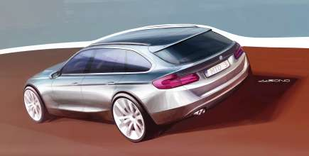 Exterior sketch of the all new BMW 3 Series Touring, Designer: Michael de Bono (05/2012)