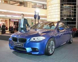 The new BMW M5 launch in Indonesia. (04/2012)