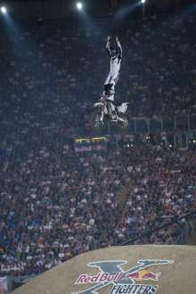 Andre Villa of Norway performs during the third stage of the Red Bull X-Fighters World Tours in the Olympic Stadium of Rome on 24-06-2011 (04/2012)