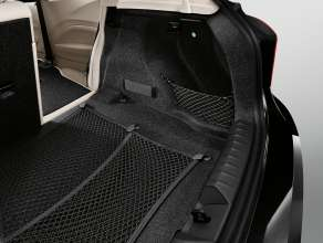 The new  BMW 1 Series 3 Door Hatch, luggage compartment  separating net (optinal equipment)  (05/2012)