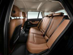 BMW 3 Series Touring, three rear seats, Dakota leather Saddle Brown with exclusive stiching  (05/2012