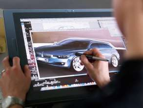 Exterior sketch of the BMW 3 Series Touring, Designer: Michael de Bono (05/2012)
