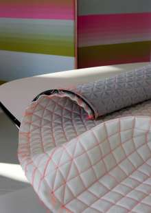 COLOUR ONE for MINI by Scholten & Baijings: Canvas upholstery for the car seat / Photography by Inga Powilleit (04/2012)
