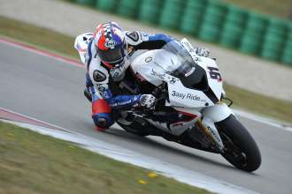 Assen (NED) 20 April 2012. Team BMW Motorrad Motorsport Rider Leon Haslam (GBR) riding the BMW S 1000 RR. This image is copyright free for editorial use © BMW AG