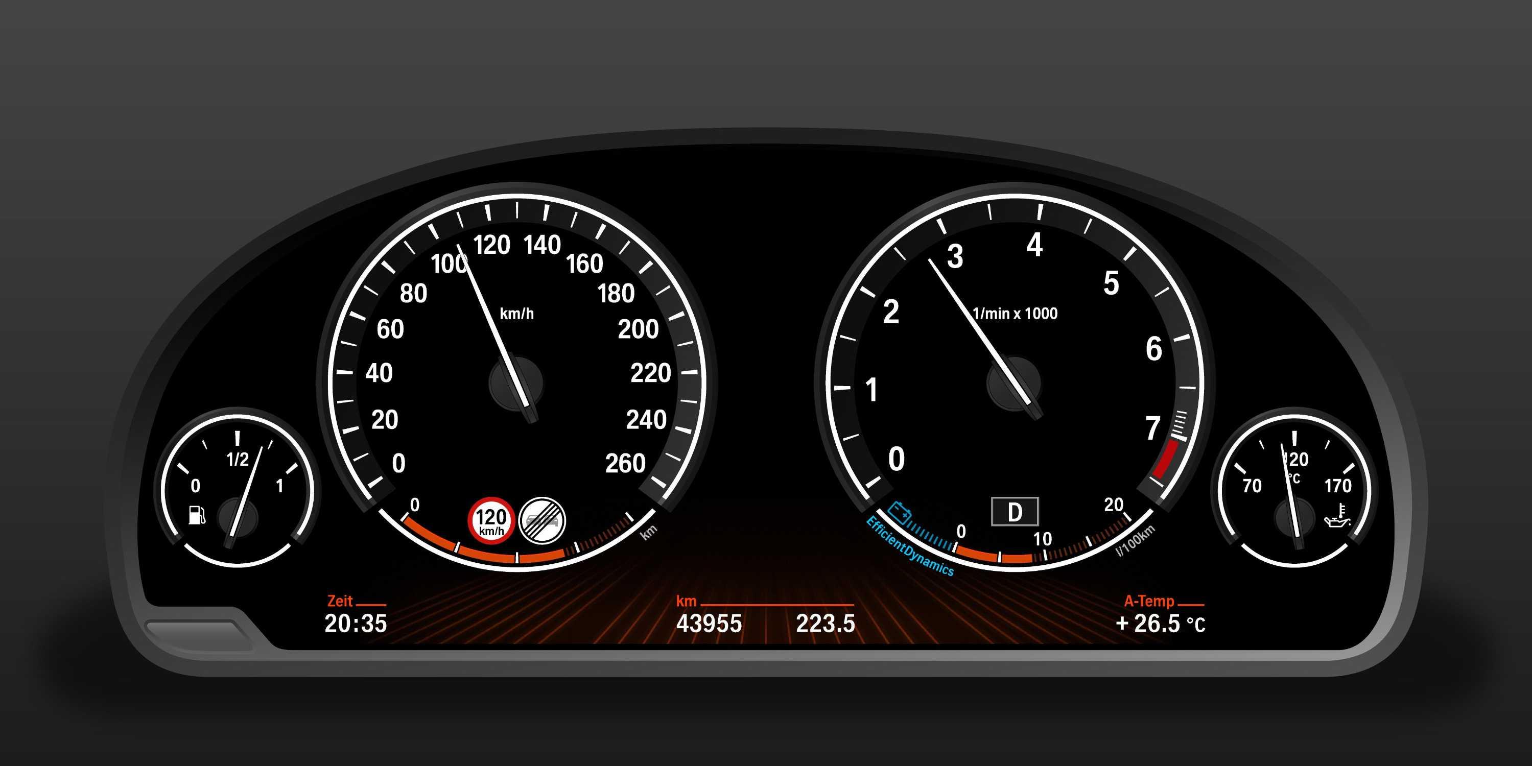 BMW 5 Series: Speed limit
