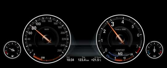 Multifunction instrument display in the driving mode COMFORT (05/2012)