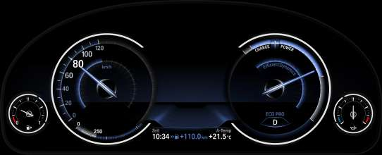 Multifunction instrument display in the driving mode ECO PRO (05/2012)