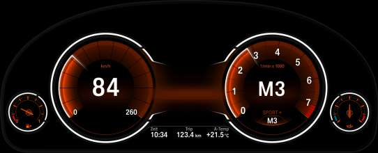 Multifunction instrument display in the driving mode SPORT (05/2012)