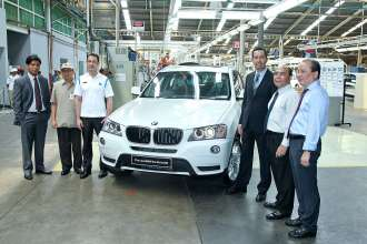 BMW X3 locally assembled in Indonesia (05/2012)