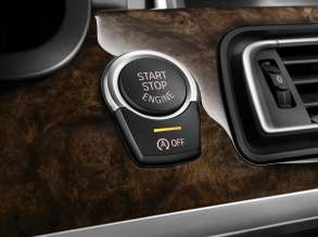 The new BMW 7 Series: Interior, Start-Stop-Button (05/2012)