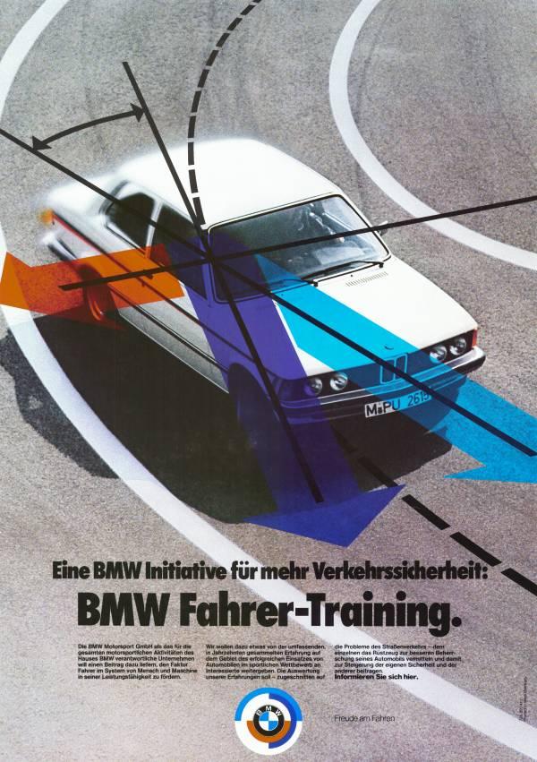 """Poster """"BMW Fahrer-Training"""" (05/2012)"""