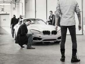 Norihiko Harada, Chief Designer Zagato, Marco Pedracini, Project Leader Zagato, and Nicolas Huet, Exterior Designer BMW Automobiles, at a meeting in Turin (05/2012)