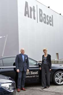 BMW at Art Basel with Annette Schönholzer and Marc Spiegler, Directors of Art Basel.