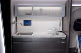 Embraer Legacy galley focused on unsurpassed style and featured in MADE4YOU:  Design for Change exhibition (06/2012)