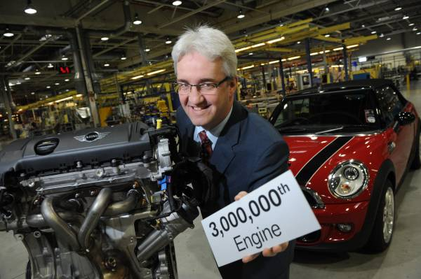 The three-millionth UK-built engine rolled off the production line at BMW's Hams Hall plant today, destined for a MINI ordered in the emerging Indian market. (06/2012)