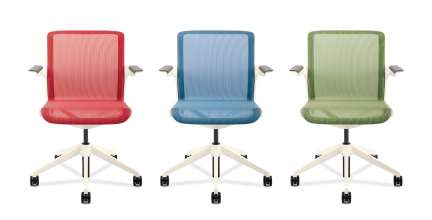Allsteel Clarity designed in collaboration with BMW Group DesignworksUSA comes in several chair styles and 8 mesh colors. (06/2012)