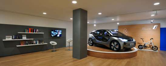 New BMW i3 Concept car previewed in world's first BMW i Store - BMW i Park Lane, London (06/2012)
