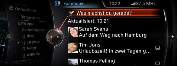 BMW ConnectedDrive, New Generation Navigation System Professional Apps facebook (07/2012)