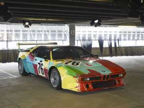"""ART DRIVE! The BMW Art Car Collection 1975-2010"" in London, July 21 - August 4, 2012. Andy Warhol, BMW Art Car, 1979 - BMW M1 group 4 racing version."