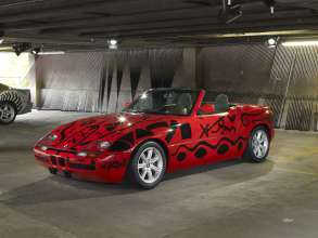 """ART DRIVE! The BMW Art Car Collection 1975-2010"" in London, July 21 - August 4, 2012. A. R. Penck, BMW Art Car, 1991 - BMW Z1."