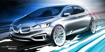BMW Concept Active Tourer, Design Sketch (09/2012)