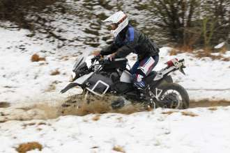 BMW R 1200 GS, winter testing (10/2012)