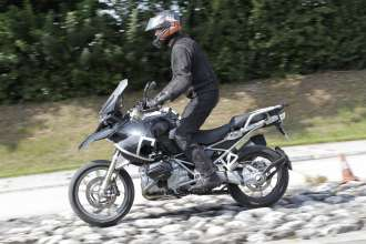 BMW R 1200 GS, Dynamic ESA testing (10/2012)