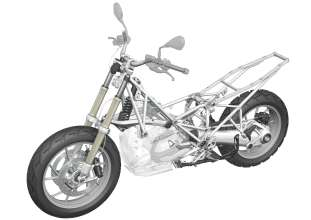 BMW R 1200 GS, framework, chassis (10/2012)