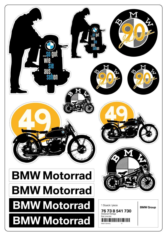 bmw motorrad style heritage 2013 aufkleber set heritage. Black Bedroom Furniture Sets. Home Design Ideas