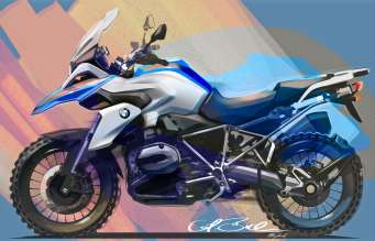 BMW R 1200 GS, desgin sketch (10/2012)