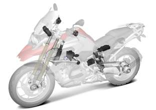 BMW R 1200 GS, Dynamic ESA overview (10/2012)