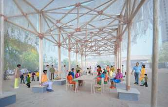BMW Guggenheim Lab Mumbai, Architect's Model, Dr. Bhau Daji Lad Museum. Photo: courtesy Atelier Bow-Wow. © Solomon R. Guggenheim Foundation (11/2012).