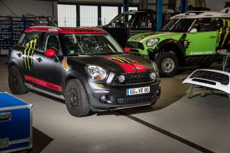 MINI Countryman X-raid service vehicle and MINI ALL4 Racing (11/2012)