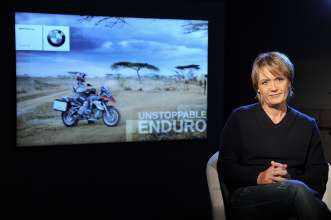 Jutta Kleinschmidt Jury Member ONE WORLD. ONE R 1200 GS. THE RIDE OF YOUR LIFE. BMW Motorrad. (11/12)