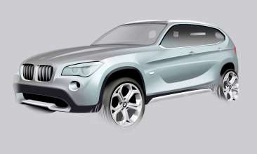 BMW Group DesignworksUSA contributed to the exterior design of the BMW X1. (12/2012)
