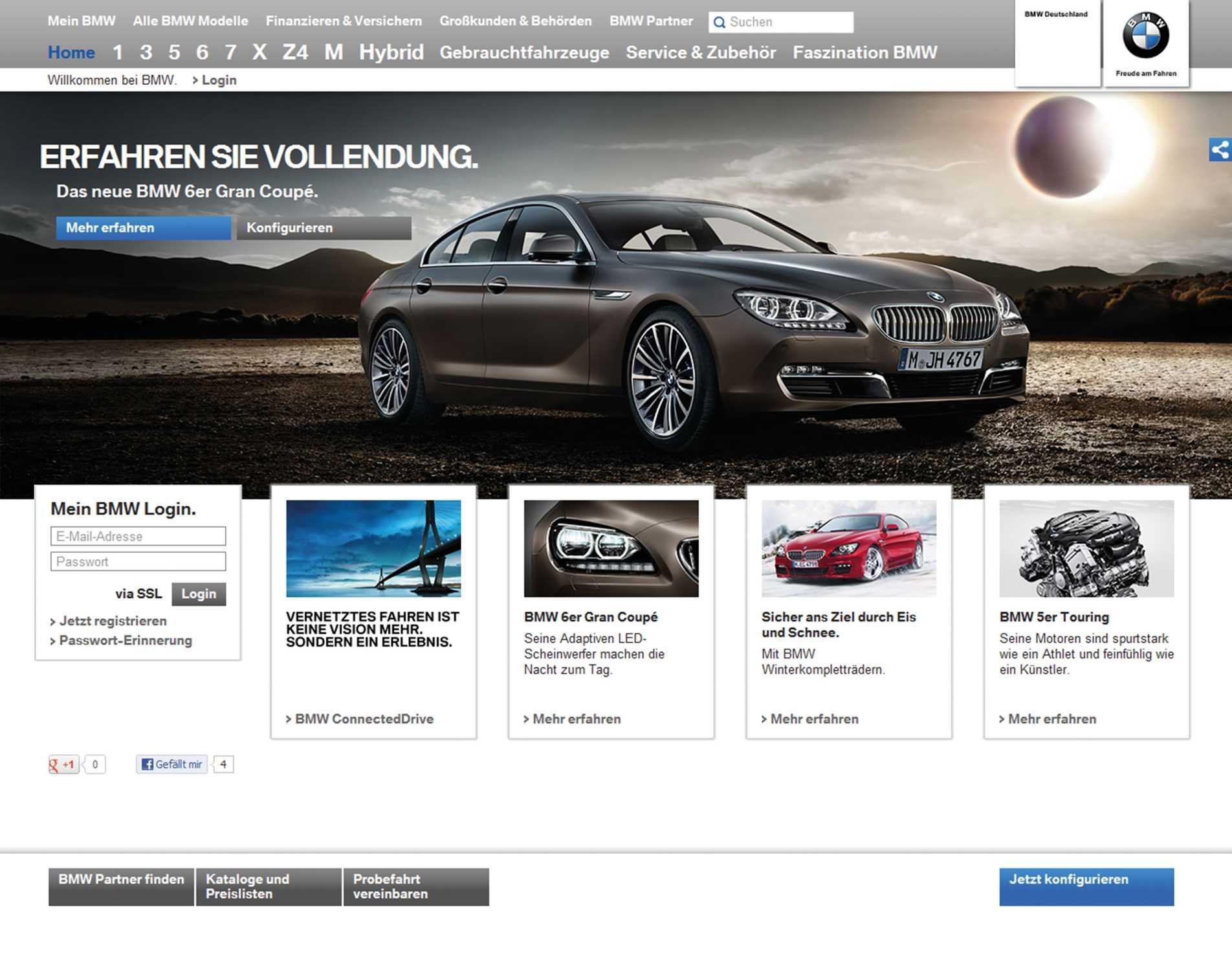 Bmw Setzt Meilenstein In Digitaler Kundenkommunikation Relaunch Der Bmw Website Www Bmw De