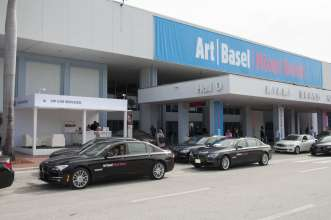 BMW VIP shuttle cars outside Art Basel Miami Beach in Miami, FL, on Wednesday December 5th 2012.