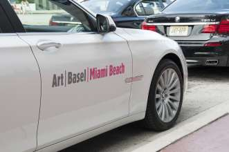 BMW VIP shuttle cars outside Art Basel Miami Beach in Miami, FL. on Wednesday December 5th 2012. 