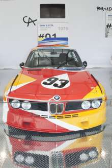 BMW Art Car by Alexander Calder (1975 BMW 3.0 CSL) on display on Wednesday December 5th, 2012 in the Miami Beach Botanical Gardens as part of Art Basel Miami Beach 2012. (John Christie /newscast) (12/2012)