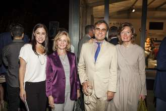 Suzie Kuhn, Irma Braman, Ludwig Willisch and Irene Willisch at the BMW Art Car Reception in the Miami Beach Botanical Gardens at Art Basel Miami Beach on December 5, 2012. (Vanessa Rogers /newscast)